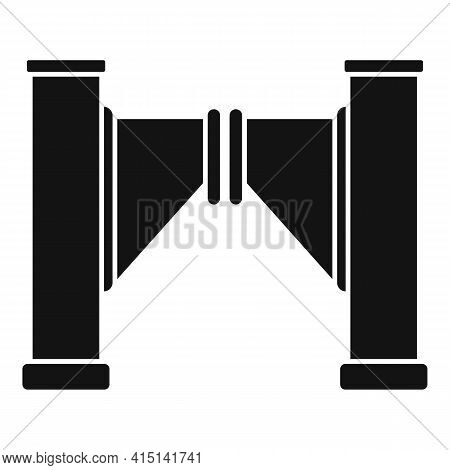 Closed Turnstile Icon. Simple Illustration Of Closed Turnstile Vector Icon For Web Design Isolated O