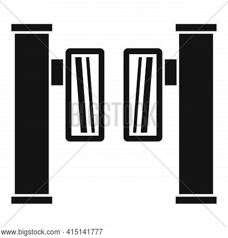 Entrance Turnstile Icon. Simple Illustration Of Entrance Turnstile Vector Icon For Web Design Isolat