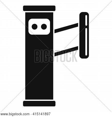 Automatic Turnstile Icon. Simple Illustration Of Automatic Turnstile Vector Icon For Web Design Isol