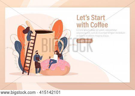 Cartoon Character. Coffee Break Vending Machine, Great Design For Any Purposes. Art Illustration. Ve