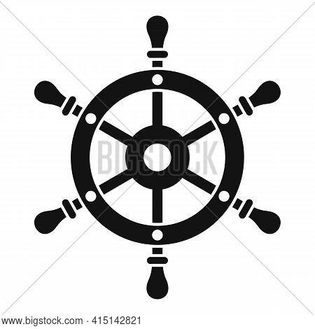 Adventure Ship Wheel Icon. Simple Illustration Of Adventure Ship Wheel Vector Icon For Web Design Is