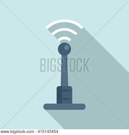 Remote Access Antenna Icon. Flat Illustration Of Remote Access Antenna Vector Icon For Web Design