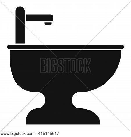 Bathroom Bidet Icon. Simple Illustration Of Bathroom Bidet Vector Icon For Web Design Isolated On Wh