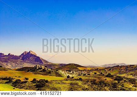 Sierra Del Torcal Mountain Range Near Antequera City, Province M
