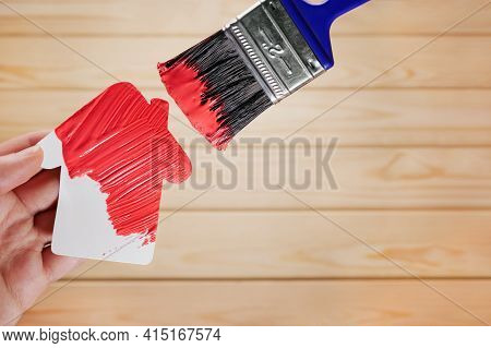 Repair House Decoration Paint Home Improvement. Painting Work House Icon Renovation Home Constructio