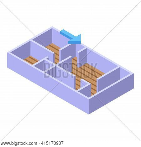 Apartment Redesign Icon. Isometric Of Apartment Redesign Vector Icon For Web Design Isolated On Whit