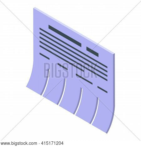 Memo Icon. Isometric Of Memo Vector Icon For Web Design Isolated On White Background