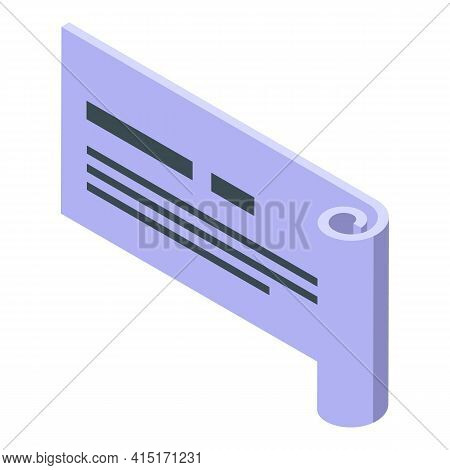 Memo Sticky Icon. Isometric Of Memo Sticky Vector Icon For Web Design Isolated On White Background