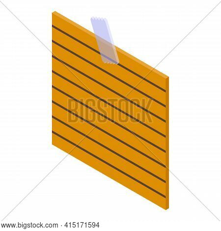 Memo Line Note Icon. Isometric Of Memo Line Note Vector Icon For Web Design Isolated On White Backgr