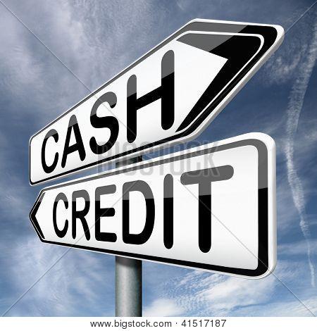 cash or credit money flow or transfer