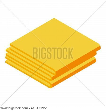 Tissue Stack Icon. Isometric Of Tissue Stack Vector Icon For Web Design Isolated On White Background