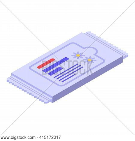 Wet Wipes Pack Icon. Isometric Of Wet Wipes Pack Vector Icon For Web Design Isolated On White Backgr