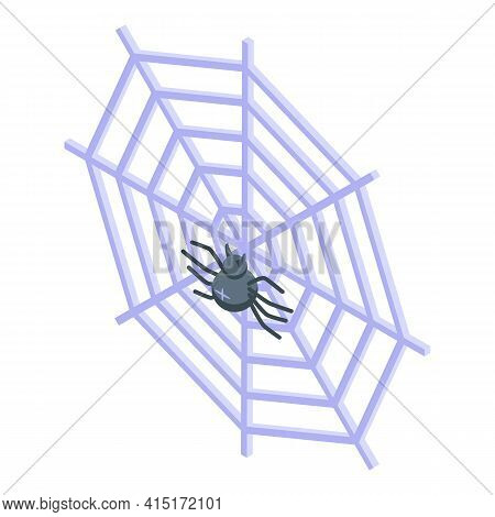 Web Spider Icon. Isometric Of Web Spider Vector Icon For Web Design Isolated On White Background