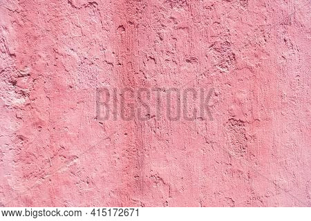 The Surface Of The Walkway Surface Has Weathered. High Resolution Through Pink Retouching Process. A