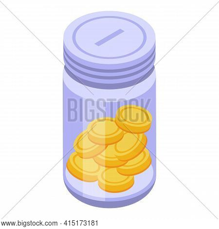Money Loan Icon. Isometric Of Money Loan Vector Icon For Web Design Isolated On White Background