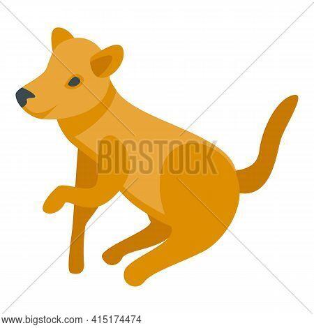 Playful Dog Icon. Isometric Of Playful Dog Vector Icon For Web Design Isolated On White Background