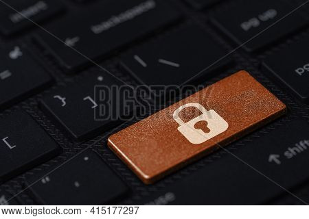 White Master Key Print Screen On Orange Button Computer Laptop For Sign Of Security Privacy Identity