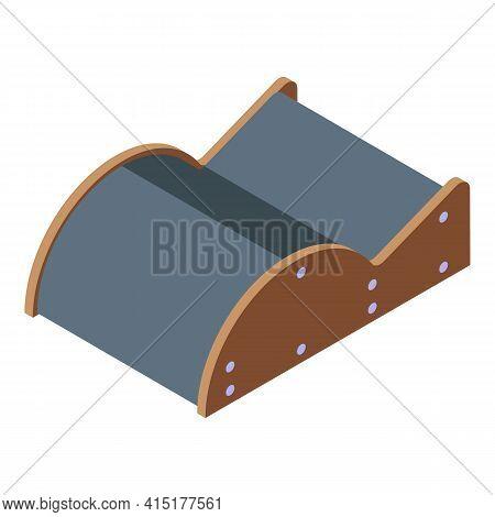 Pilates Wood Equipment Icon. Isometric Of Pilates Wood Equipment Vector Icon For Web Design Isolated
