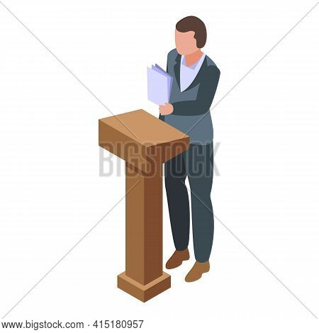 Law Justice Icon. Isometric Of Law Justice Vector Icon For Web Design Isolated On White Background