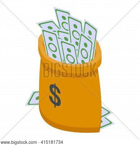 Money Inheritance Icon. Isometric Of Money Inheritance Vector Icon For Web Design Isolated On White