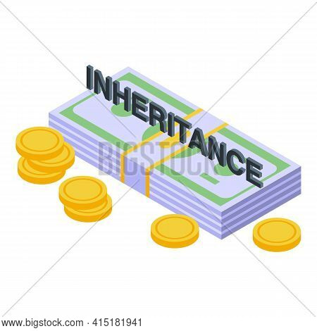 Inheritance Wealth Icon. Isometric Of Inheritance Wealth Vector Icon For Web Design Isolated On Whit