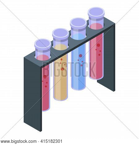 Gmo Tubes Lab Icon. Isometric Of Gmo Tubes Lab Vector Icon For Web Design Isolated On White Backgrou