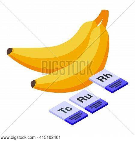 Gmo Bananas Icon. Isometric Of Gmo Bananas Vector Icon For Web Design Isolated On White Background