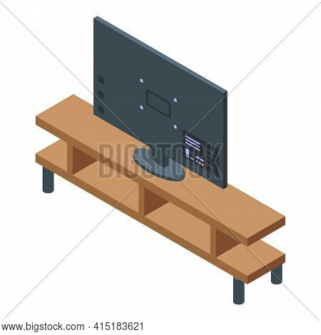 Interactive Tv Icon. Isometric Of Interactive Tv Vector Icon For Web Design Isolated On White Backgr