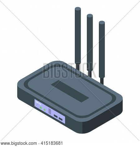 Internet Modem Icon. Isometric Of Internet Modem Vector Icon For Web Design Isolated On White Backgr