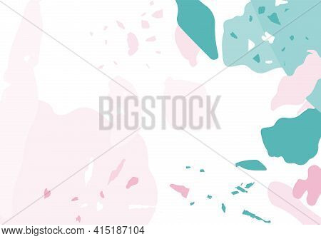 Terrazzo Modern Abstract Template. Pink And Blue