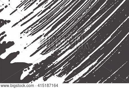 Grunge Texture. Distress Black Grey Rough Trace. A