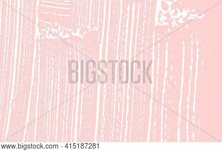 Grunge Texture. Distress Pink Rough Trace. Grand B