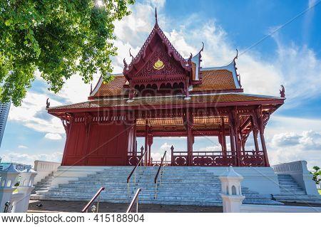 Bangkok/thailand-30 May 2020:ancient Building In Phra Sumen Fort The Ancient Fort Of Bangkok.phra Su