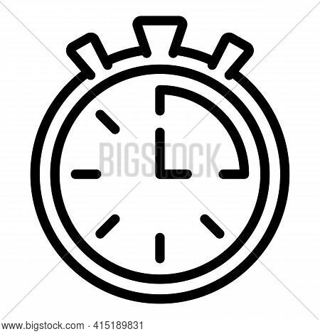 Solarium Stopwatch Icon. Outline Solarium Stopwatch Vector Icon For Web Design Isolated On White Bac
