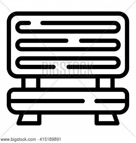 Solarium Equipment Icon. Outline Solarium Equipment Vector Icon For Web Design Isolated On White Bac