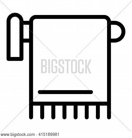 Towel Solarium Icon. Outline Towel Solarium Vector Icon For Web Design Isolated On White Background