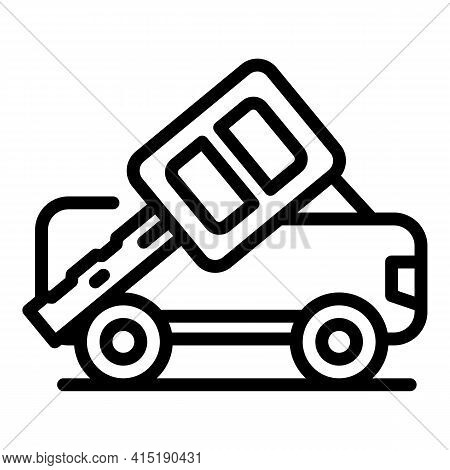 Car Purchase Icon. Outline Car Purchase Vector Icon For Web Design Isolated On White Background