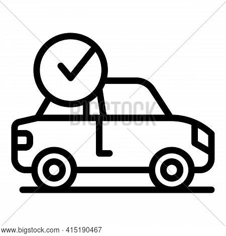Auto Purchase Icon. Outline Auto Purchase Vector Icon For Web Design Isolated On White Background