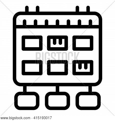Calendar Task Schedule Icon. Outline Calendar Task Schedule Vector Icon For Web Design Isolated On W