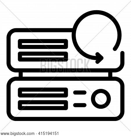 Automatic Backup Icon. Outline Automatic Backup Vector Icon For Web Design Isolated On White Backgro