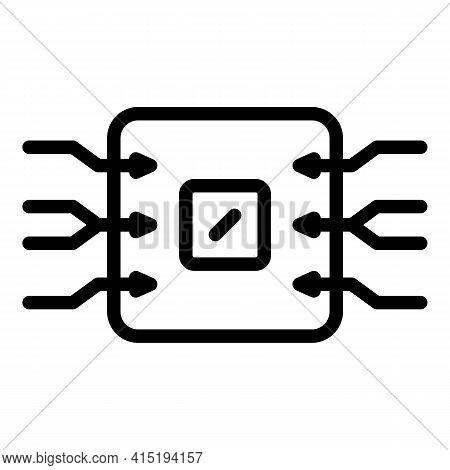 Chip Backup Icon. Outline Chip Backup Vector Icon For Web Design Isolated On White Background