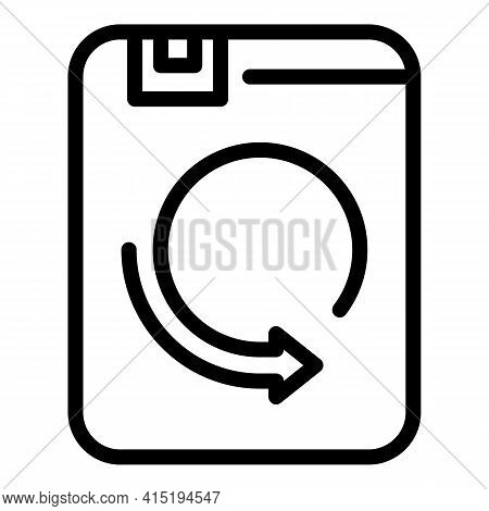 Data Sync Icon. Outline Data Sync Vector Icon For Web Design Isolated On White Background