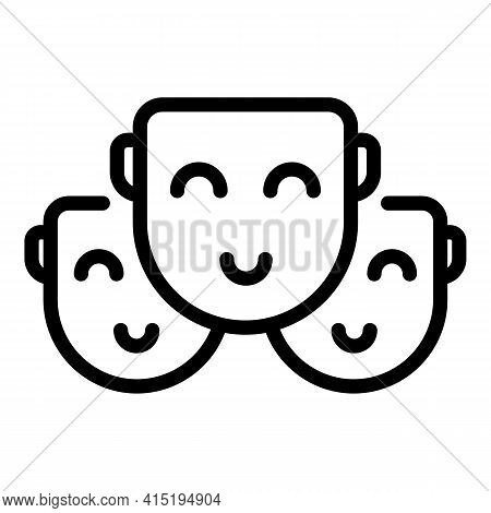 Happy Crew Icon. Outline Happy Crew Vector Icon For Web Design Isolated On White Background