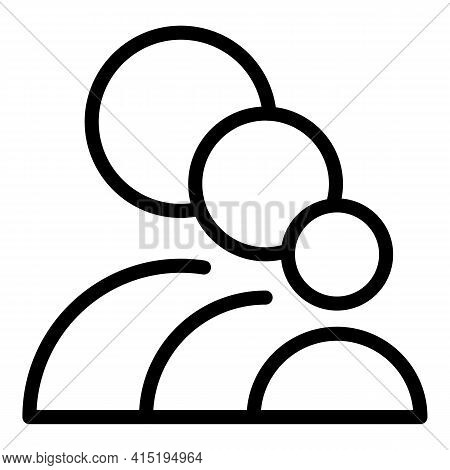 Cabin Crew Icon. Outline Cabin Crew Vector Icon For Web Design Isolated On White Background