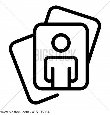 Crew Card Icon. Outline Crew Card Vector Icon For Web Design Isolated On White Background
