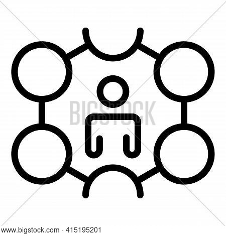 Crew Manager Icon. Outline Crew Manager Vector Icon For Web Design Isolated On White Background