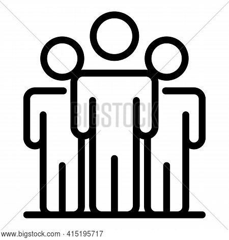 Office Crew Icon. Outline Office Crew Vector Icon For Web Design Isolated On White Background