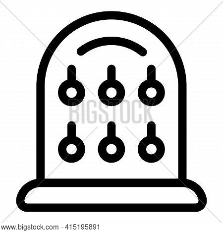 Jewelry Dummy Piece Icon. Outline Jewelry Dummy Piece Vector Icon For Web Design Isolated On White B