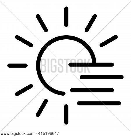 Sunrise Icon. Outline Sunrise Vector Icon For Web Design Isolated On White Background