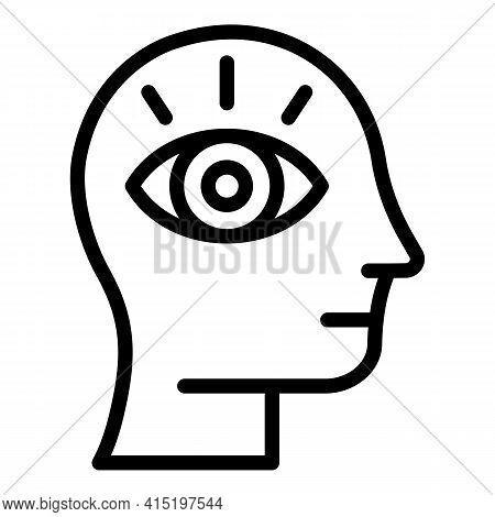 Harmony Meditation Icon. Outline Harmony Meditation Vector Icon For Web Design Isolated On White Bac